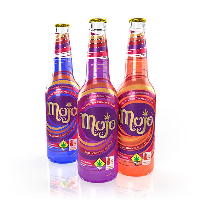 Mojo Cannabis Soda Label Design